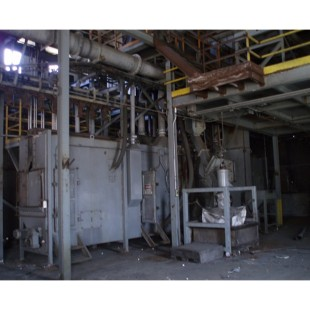 Used BCP-Wheelabrator Roller Table Monorail Combo